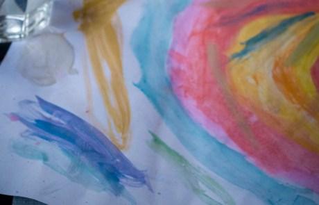 diy watercolour paint rainbow