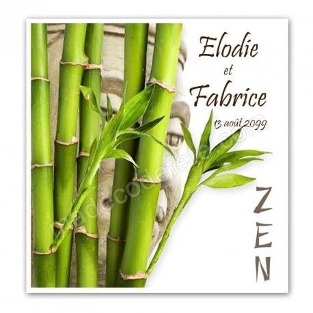 faire part mariage zen bambou