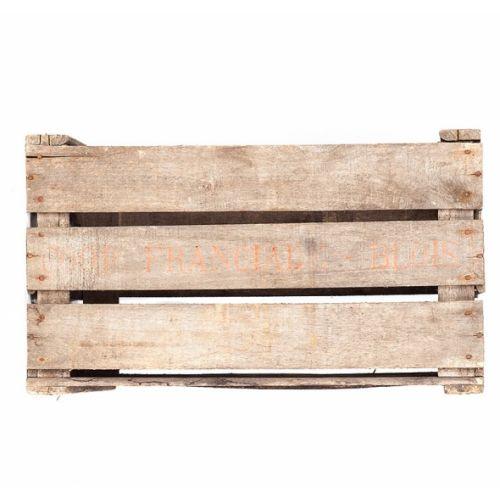 caisse en bois vintage et authentique