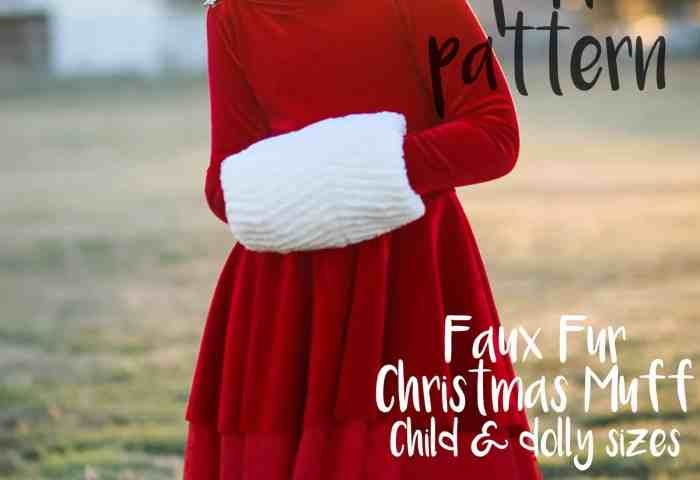 Christmas Muff for Girls & Dolly