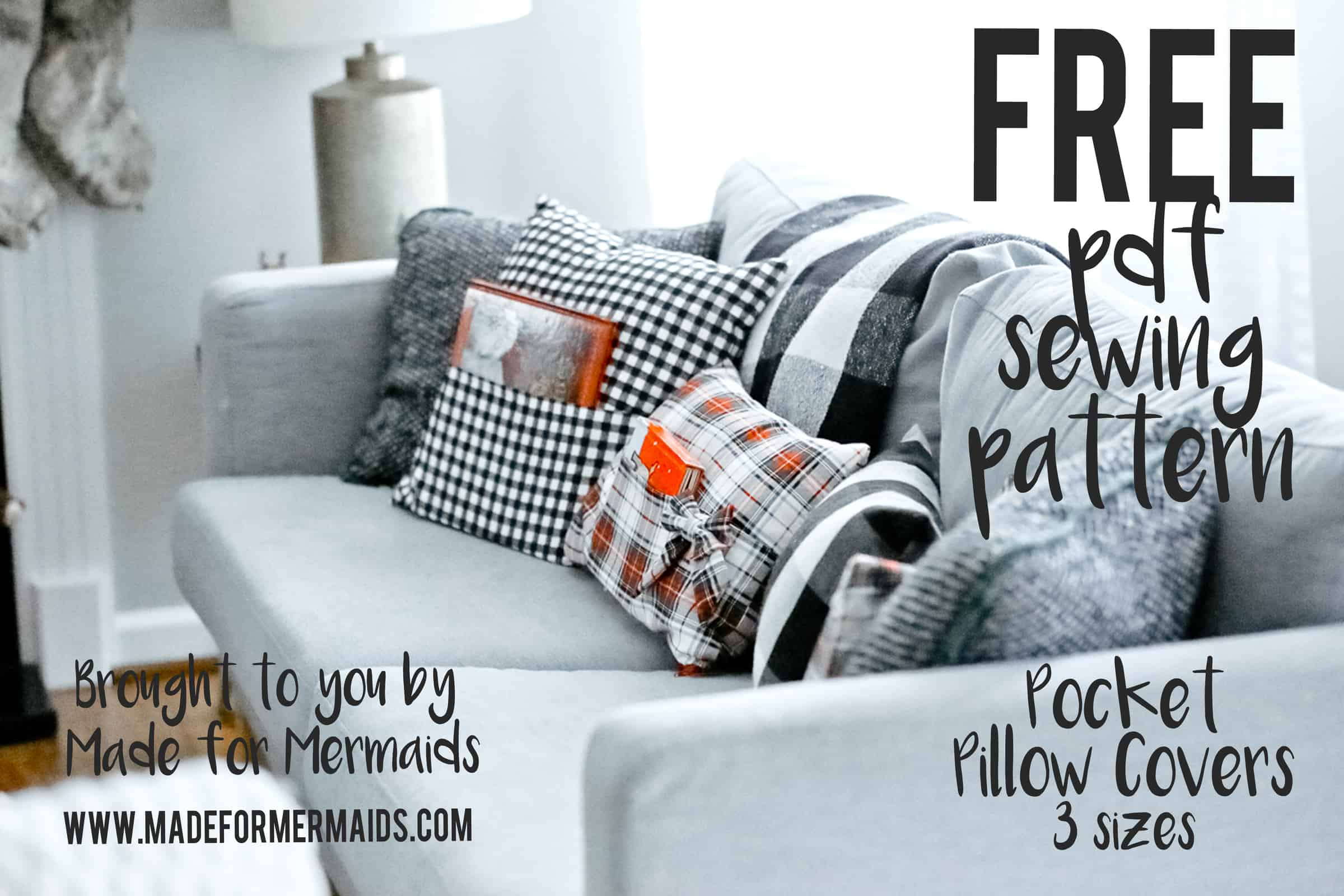 free pdf pattern pocket pillow covers and cut files
