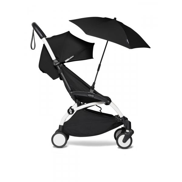 poussette yoyo pack 6 ombrelle cadre blanc noir