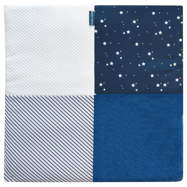 tapis de chambre tapidou mosaique marine blanc