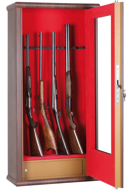 Armoire Forte Infac Vitrine Couleur Bois LV12 12 Armes