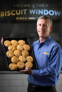 Burney Jennings is the CEO of Biscuitville FRESH SOUTHERN. The company has 54 locations in two states. Jennings is an Elon University graduate and took over the company after his father.  Photographed, Tuesday, October 3, 2017, in Whitsett, N.C. JERRY WOLFORD and SCOTT MUTHERSBAUGH / Perfecta Visuals