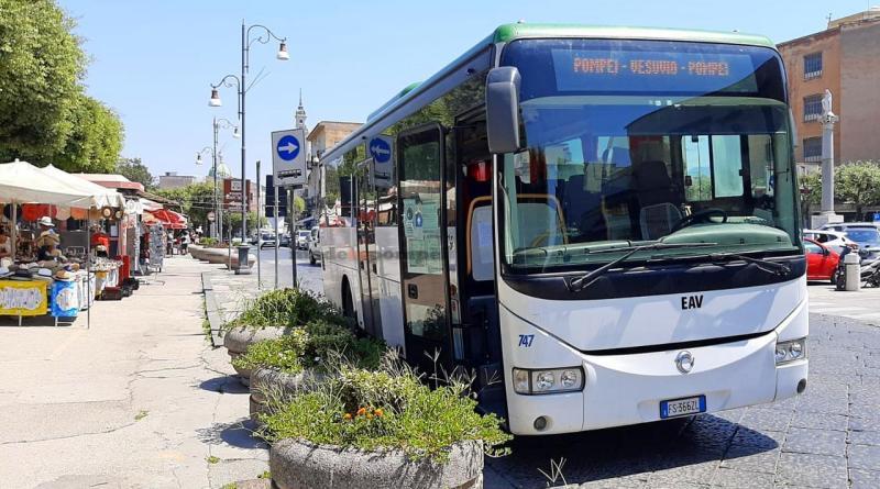 Pompei-Vesuvio, riprende il servizio di trasporto di Eav: ecco corse e orari