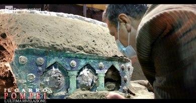 Pompei, l'ultima rivelazione: su Rai2 il docu-film sulla straordinaria scoperta del carro cerimoniale