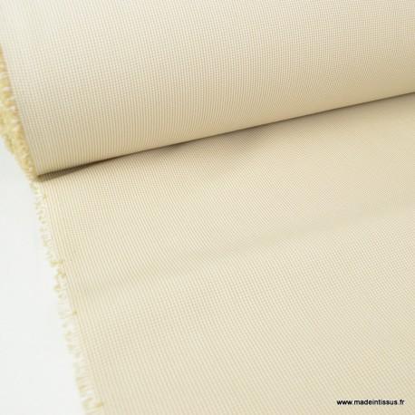 tissu d exterieur en polypro teint masse beige pour coussins