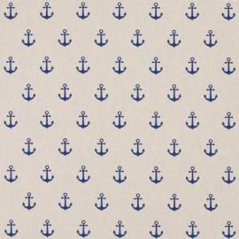 tissu toile aspect lin motifs ancres marines bleu marine oeko tex tissu toile aspect lin motifs ancres marines bleu marine oeko tex
