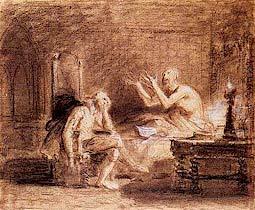 'A Morte de Camões'. Desenho de Domingos Sequeira. Museu Nacional de Arte Antiga, Lisboa.