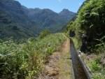 Tourist lost in a levada in Boaventura