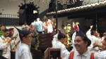 WINE FESTIVAL: TOURISTS HAVE FUN PRESSING THE GRAPES