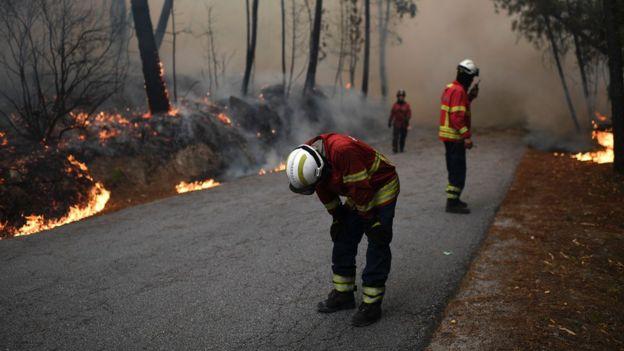Firefighters still on the ground in Porto Moniz