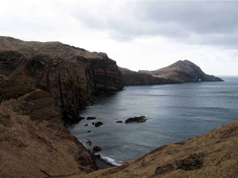 Ponta de São Lourenço uitzicht rotsen en oceaan