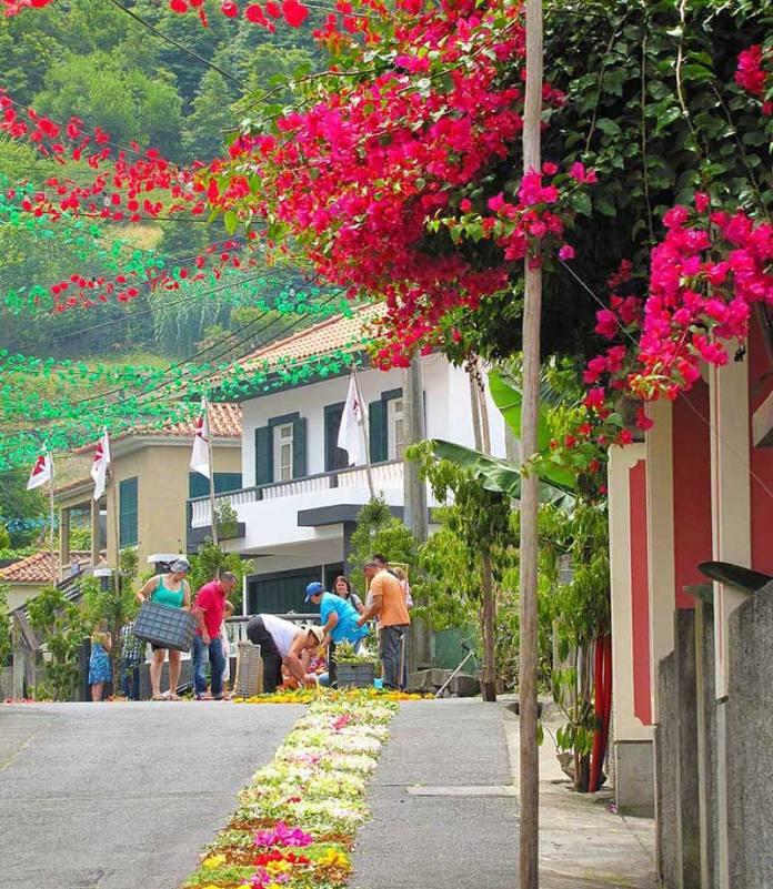 wandeling boaventura feestversieringen straat