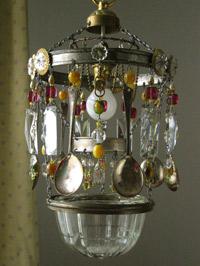 Lolly-pop spoon chandelier