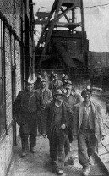 Men Leaving Shift - Madeley Colliery
