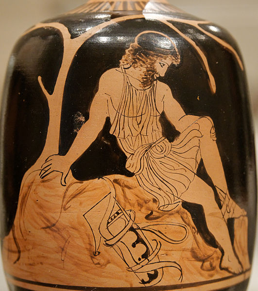 Image result for GReek vase Philoctetes