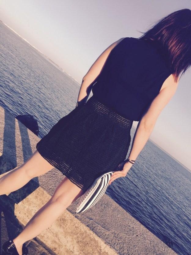 Ma petite robe noire vue de dos