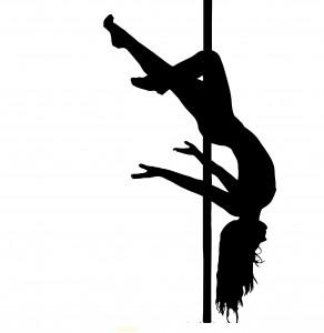 Pole dance figure bas