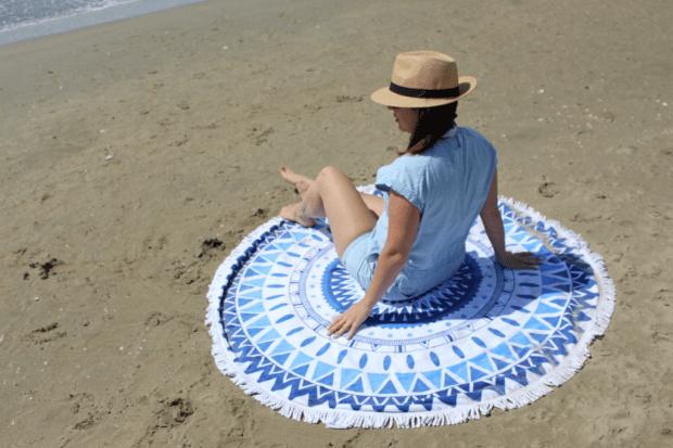 serviette ronde plage_mademoiselle-e