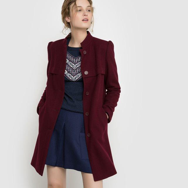 la redoute manteau bordeau mademoiselle-e