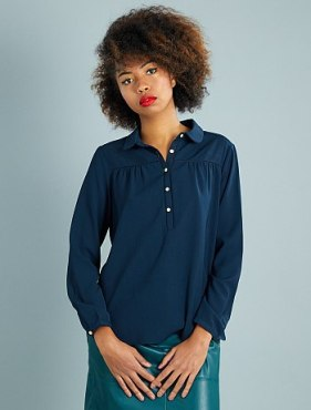 HAUL Kiabi blouse-maille-gaufree-col-claudine-bleu-marine-femme-vf104_1_fr2