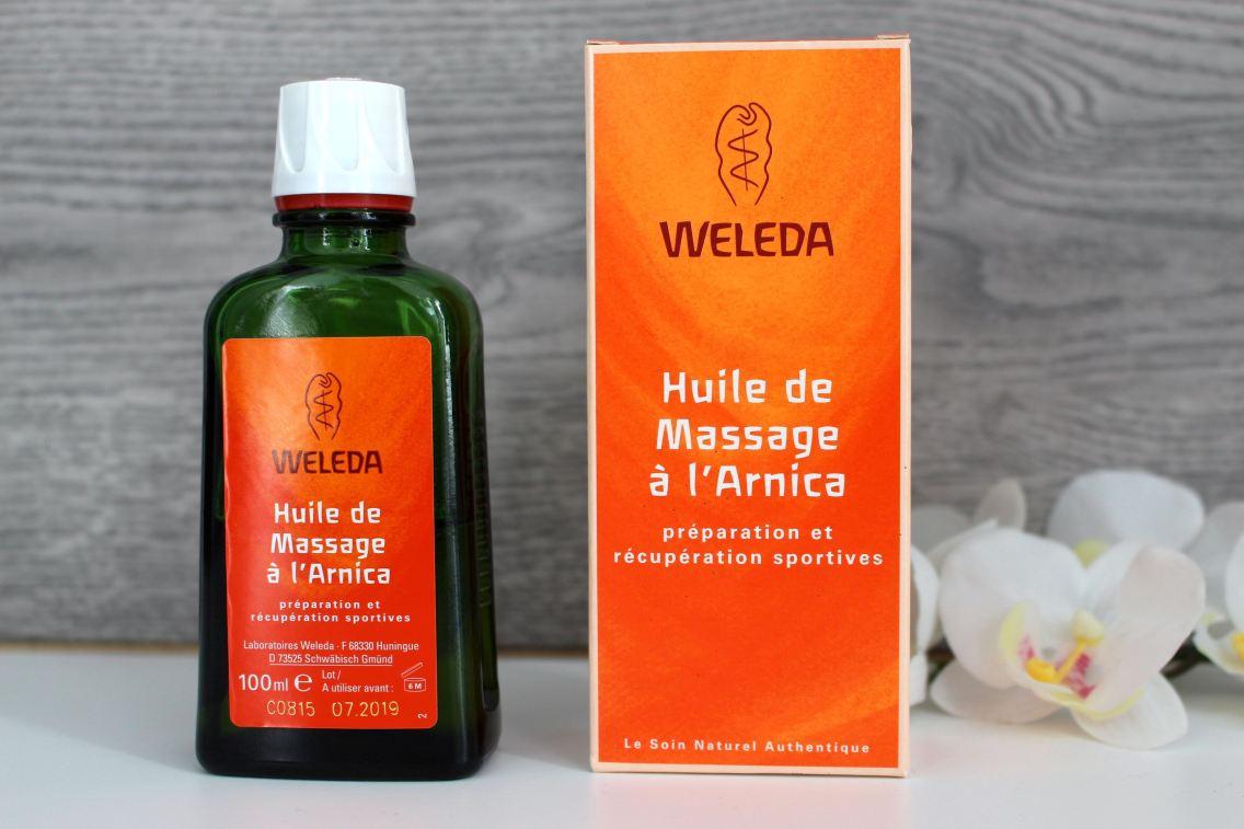 Huile de massage arnica weleda avis mademoiselle-e presentation
