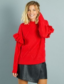 pull-a-col-montant-et-manches-volantees-rouge