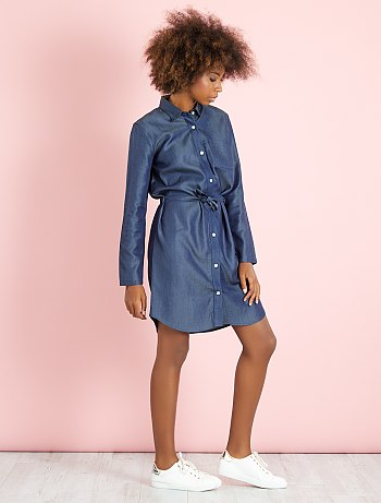 robe-chemise-en-denim-light-denim