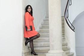 robe orange mademoiselle r 19 mademoiselle e