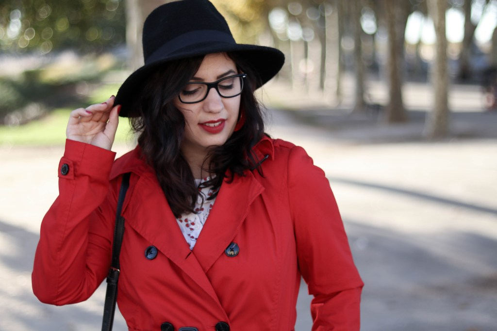 Trench rouge tendance 39 mademoiselle-e