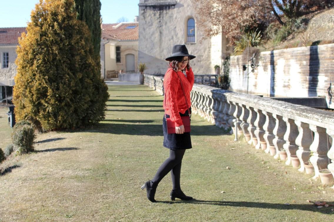 pull rouge torsade pimkie solde look hiver 2 mademoiselle e