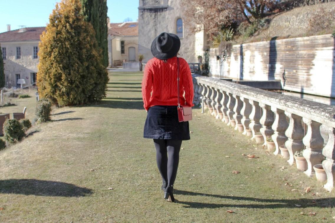 pull rouge torsade pimkie solde look hiver 5 mademoiselle e
