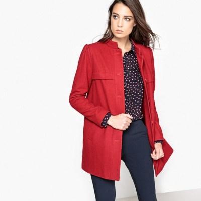 Manteau droit col montant
