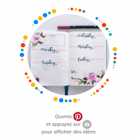 Bullet journal pinterest mademoiselle e