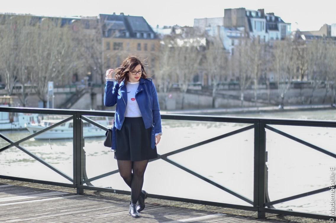 perfecto bleu électrique Kiabi 1 look mademoiselle-e