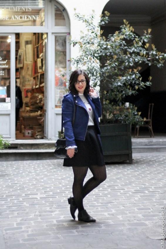 perfecto bleu électrique Kiabi 11 look mademoiselle-e
