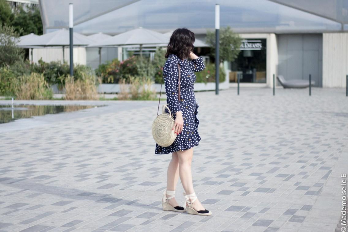 robe portefeuille pois volants Vila Clothes 1 mademoiselle-e look