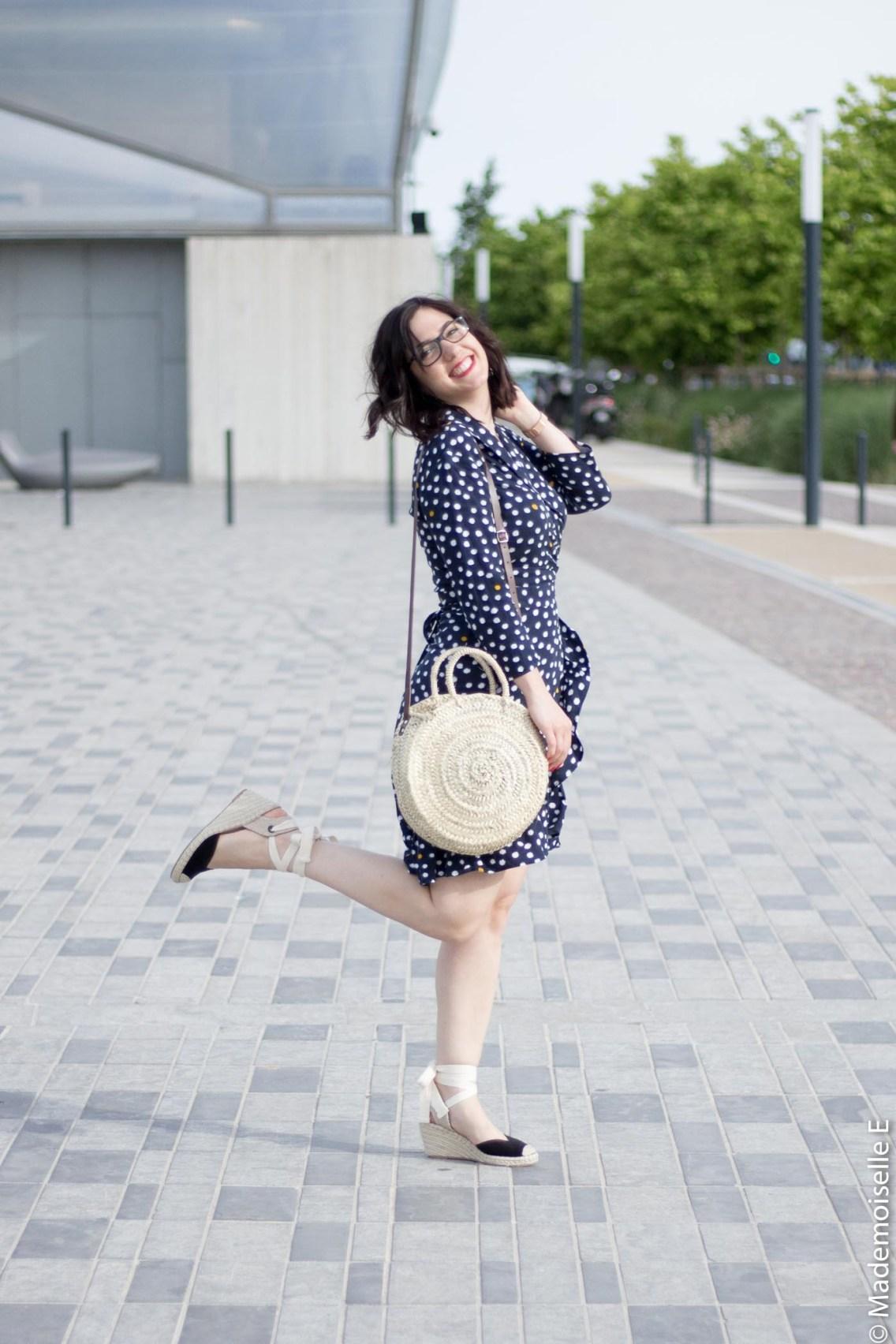 robe portefeuille pois volants Vila Clothes 5 mademoiselle-e look