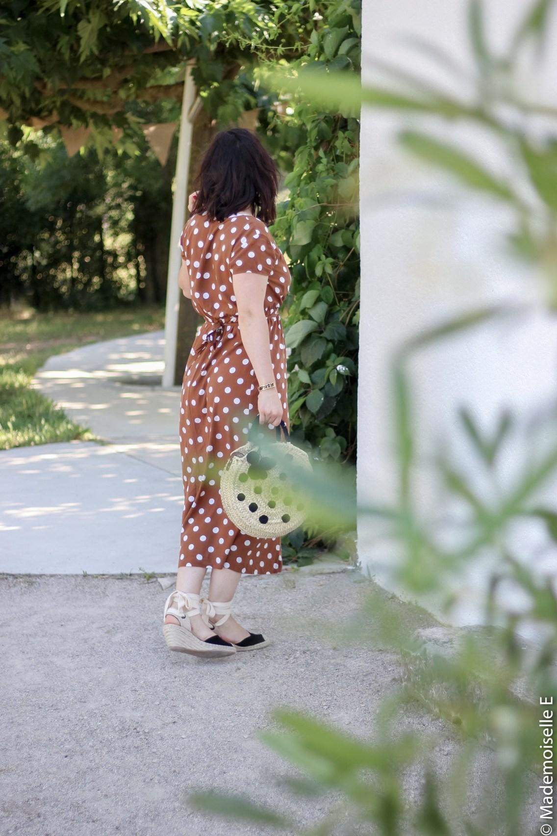 robe longue a pois 16 look été blog mode mademoiselle-e