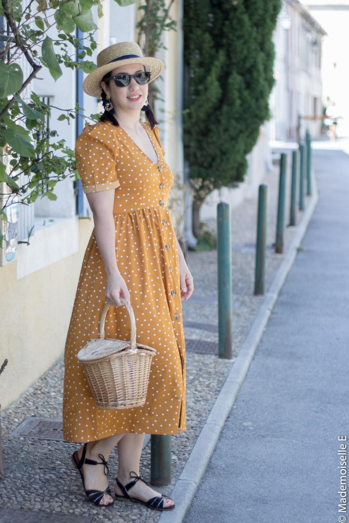 robe pois moutarde tendance été 14 mademoiselle-e