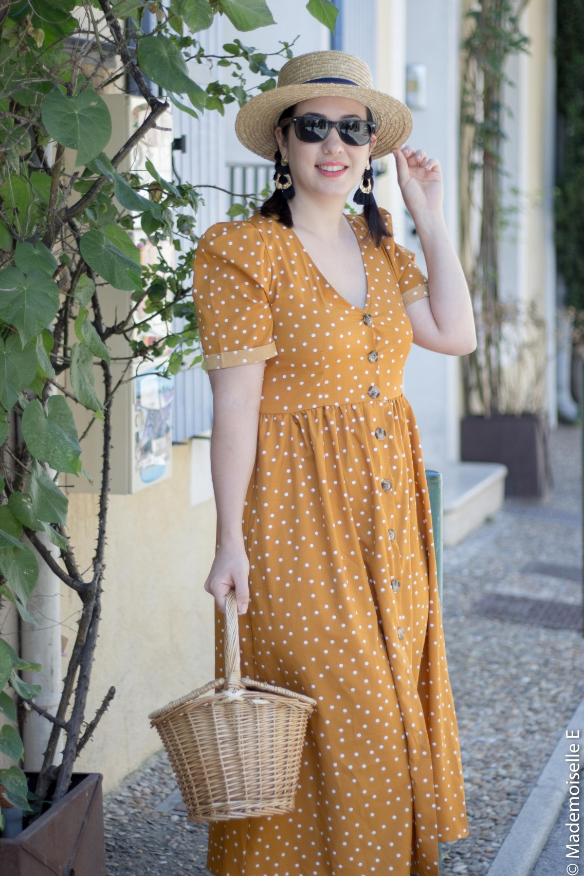 robe pois moutarde tendance été 12 mademoiselle-e