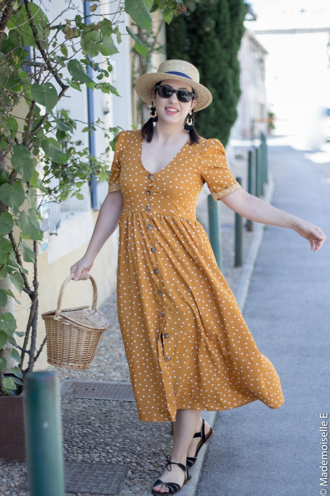 robe pois moutarde tendance été 3 mademoiselle-e