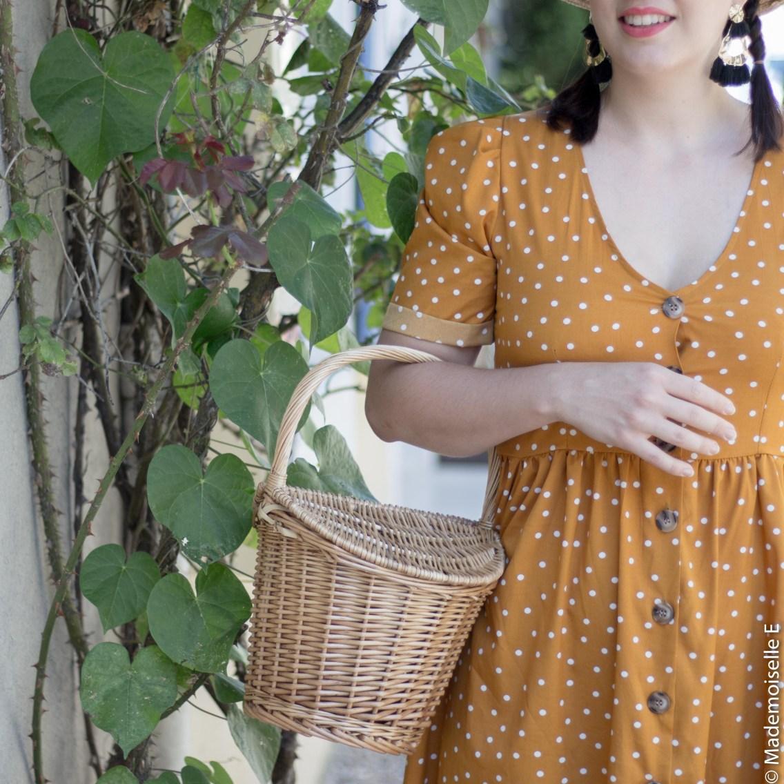 robe pois moutarde tendance été 1 mademoiselle-e