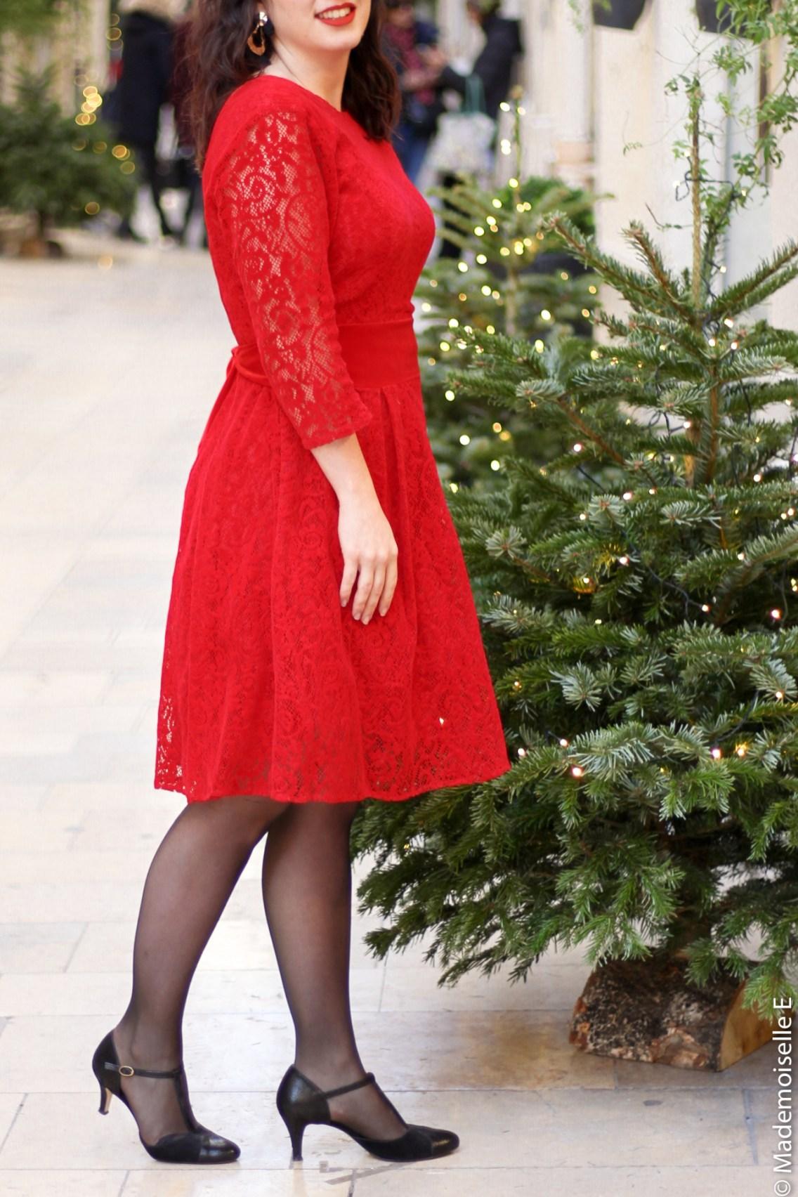 Robe rouge look de noel 5 mademoiselle-e