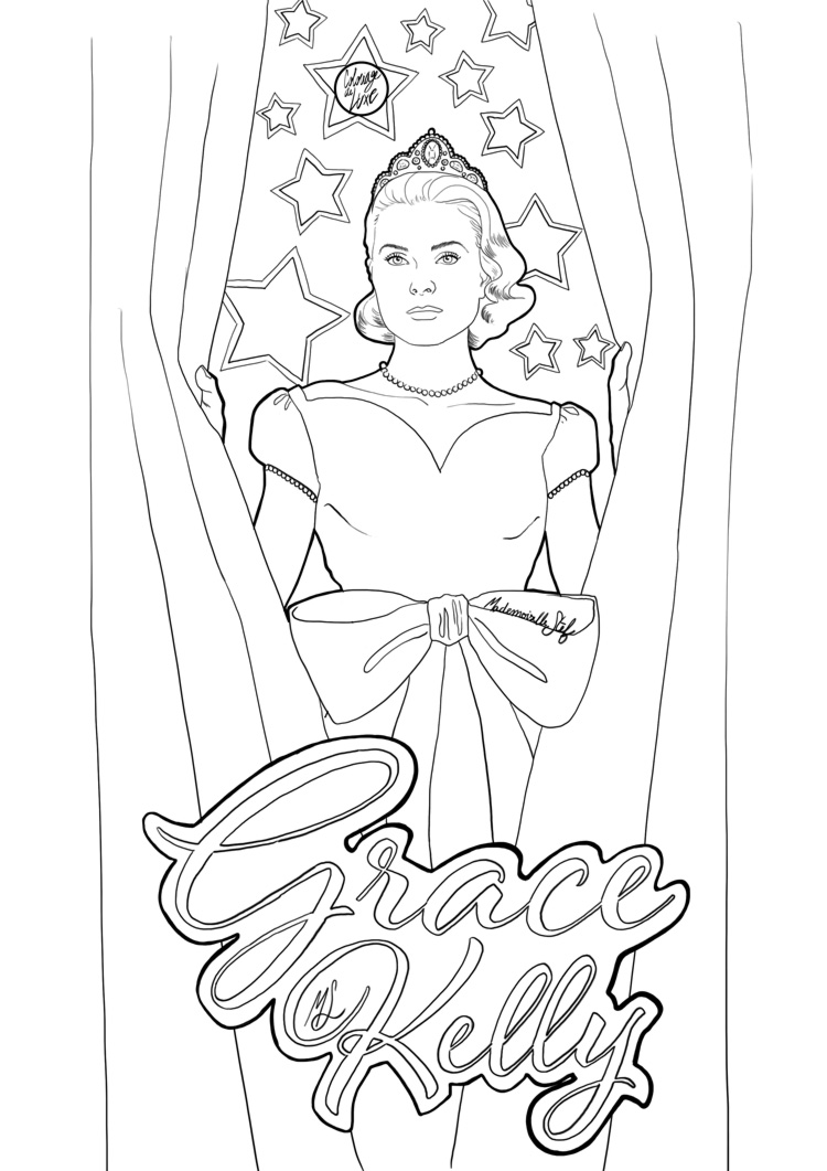 Coloriage : Grace Kelly I Mademoiselle Stef