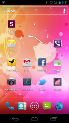 Screenshot galaxy nexus