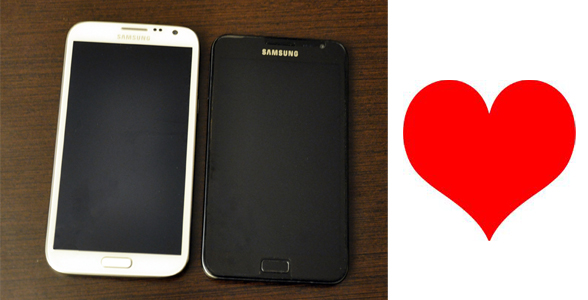 comparatif galaxy Note 1 et galaxy note 2