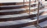 Treppengeländer, außen, Edelstahl